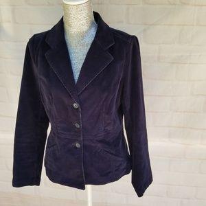 St. John's Bay Navy Blue Corduroy Blazer Jacket